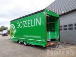 802236 transport voertuigen middenas aanhangwagen met verstelbaar verdiep dubbele laadvloer